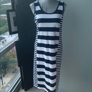 Stretchy soft cotton tank dress